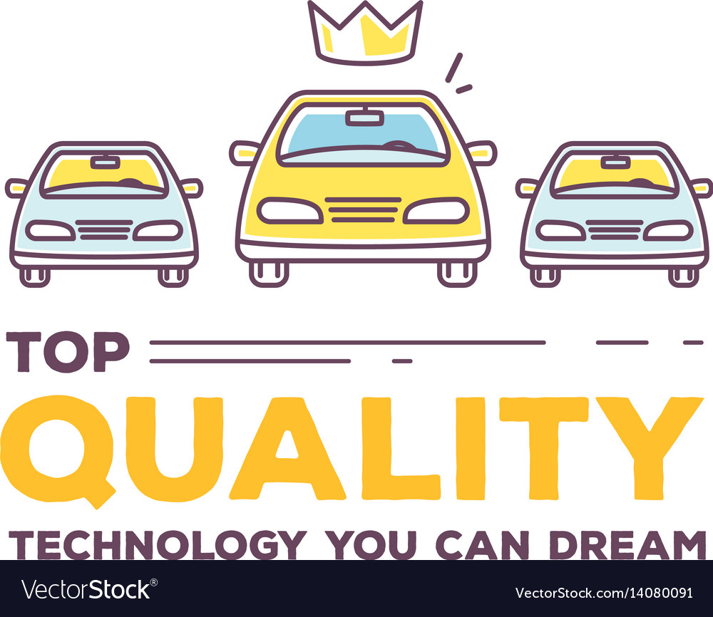 Creative of three cars with header vector image
