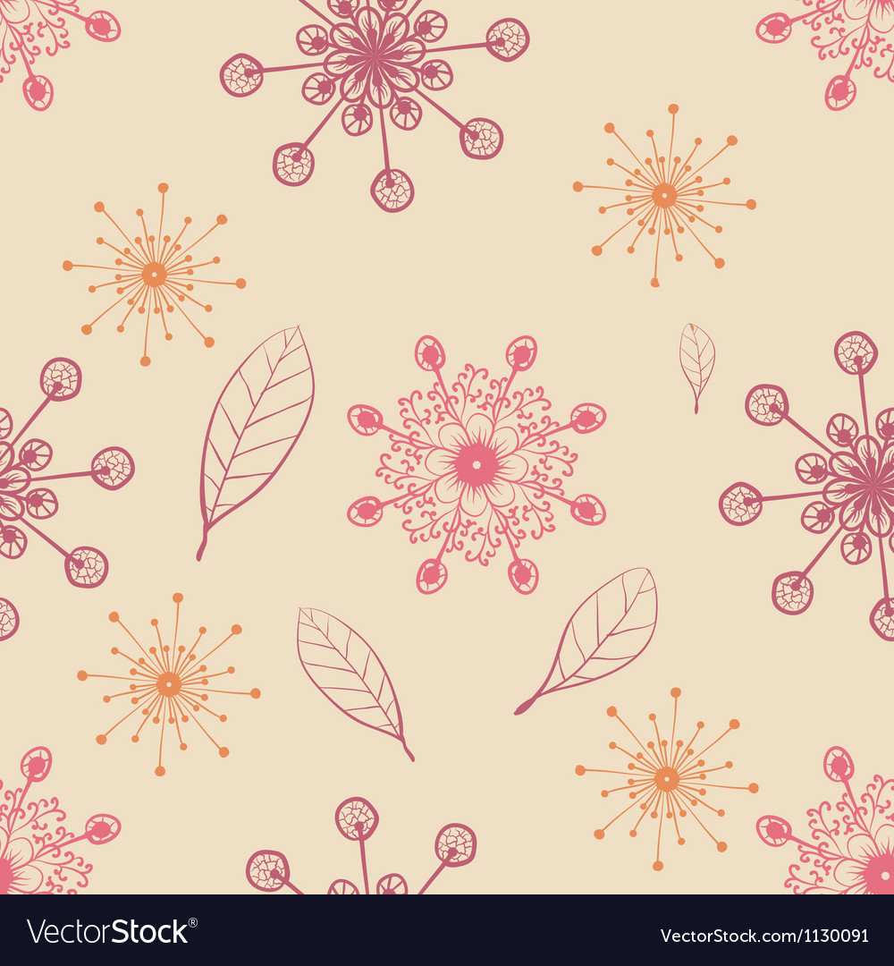 Hand draw seamless pattern with snow flakes and
