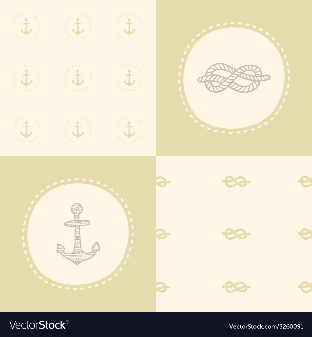 Retro anchor pattern set