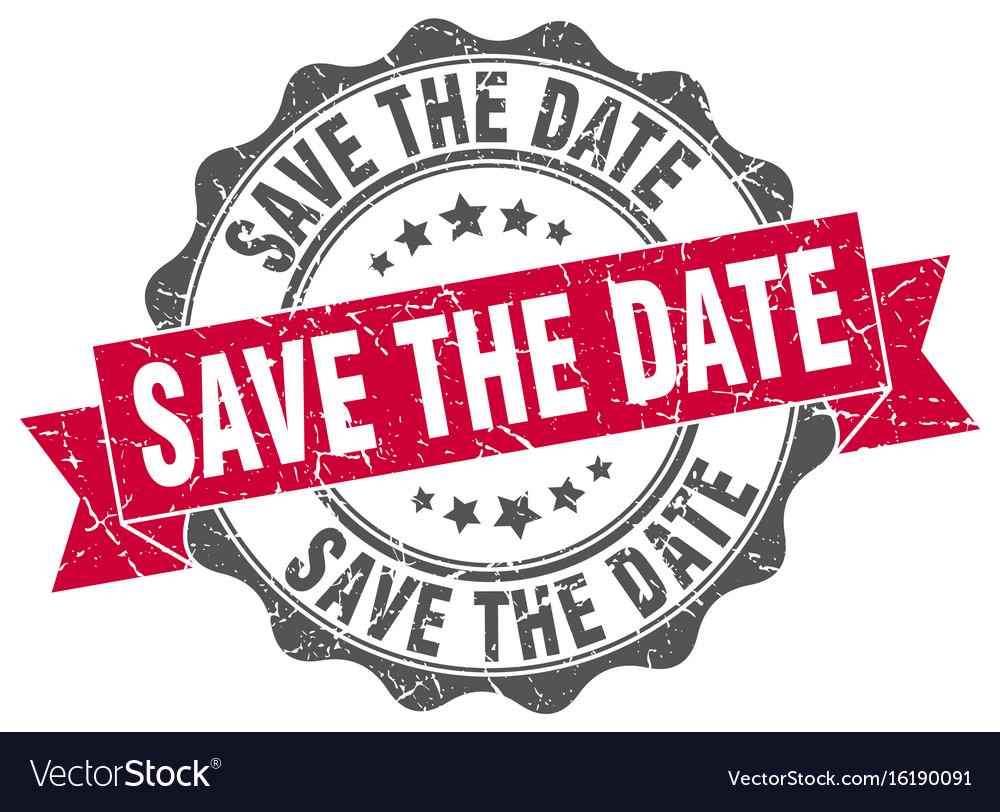 save the date stamp sign seal royalty free vector image