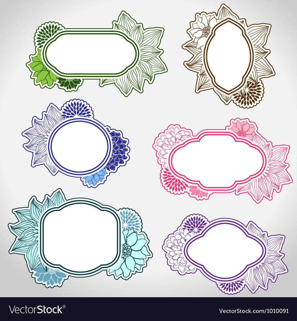 Set of different vintage frames Royalty Free Vector Image