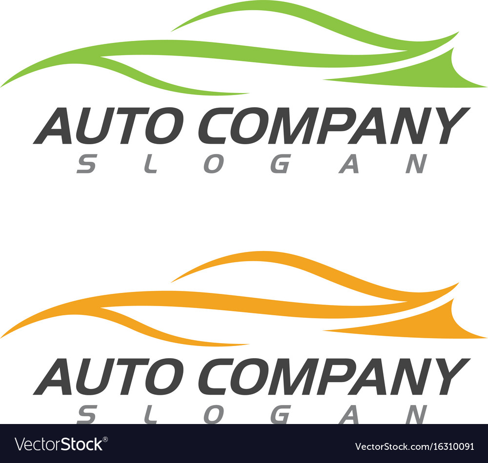 Speed Auto Car Logo Template Icon Royalty Free Vector Image