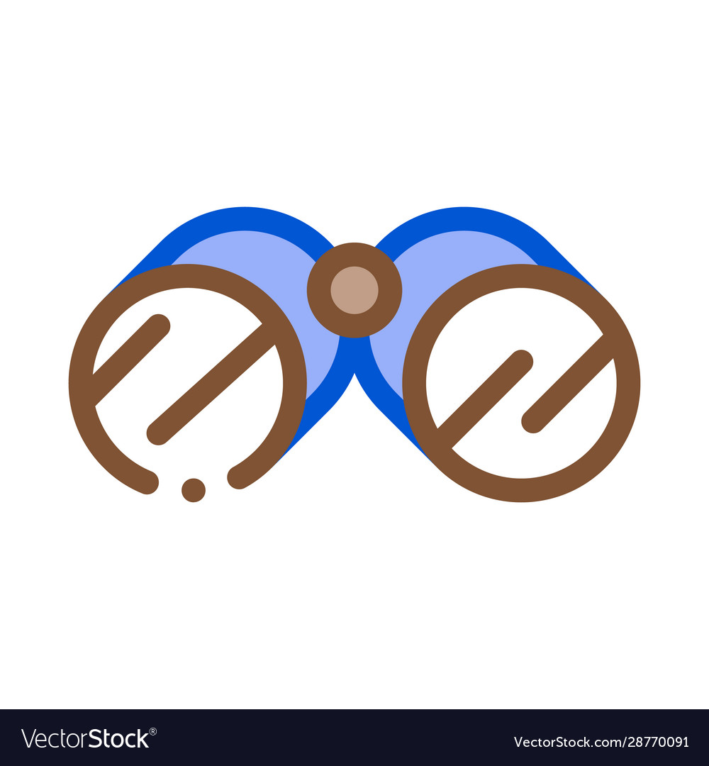 Tourist camping binoculars icon outline