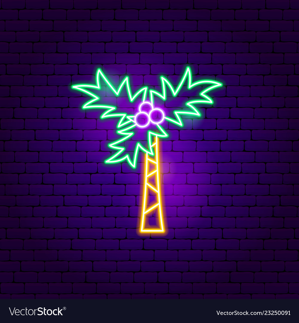 Tropical palm neon sign