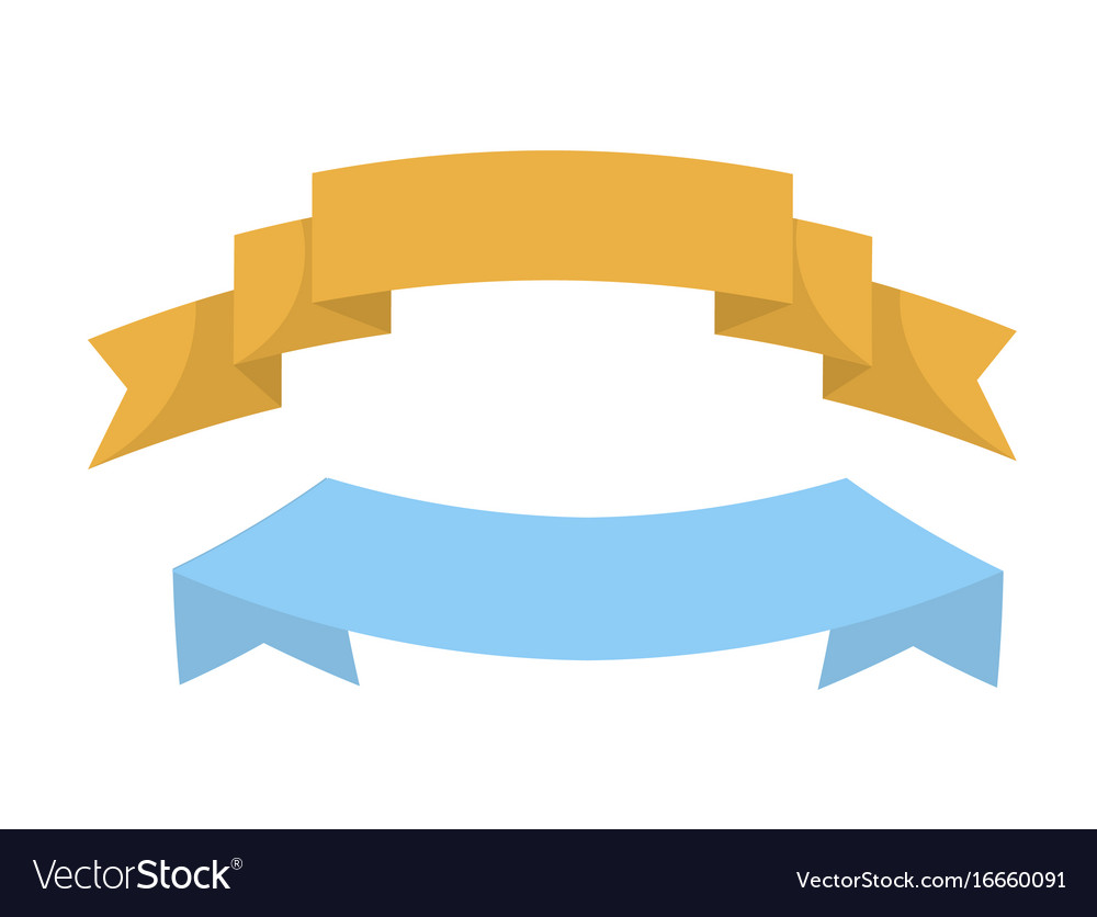 Wavy colorful ribbons flat templates for sign