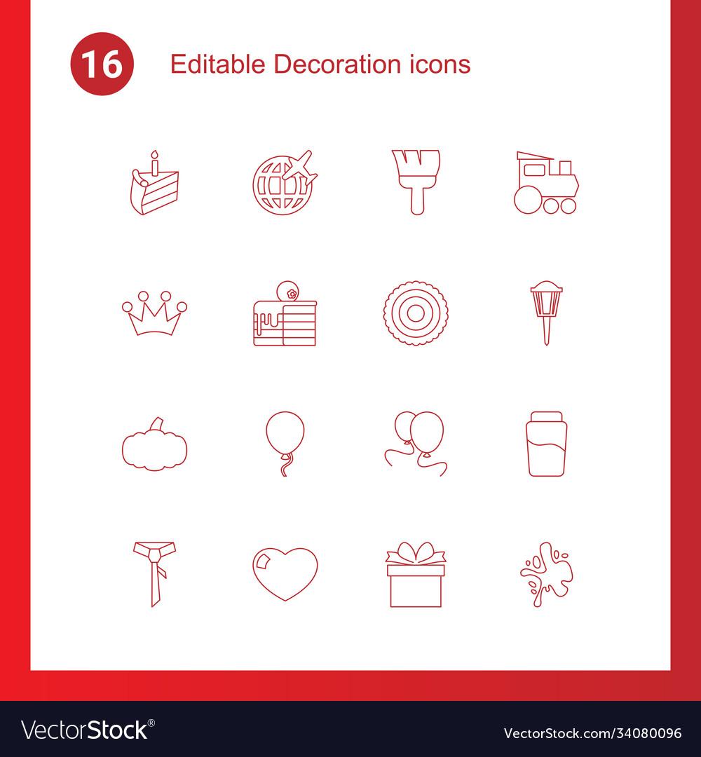 16 decoration icons