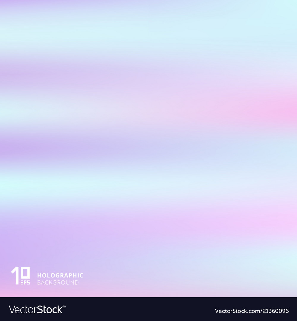 Abstract gradient pastel color holographic