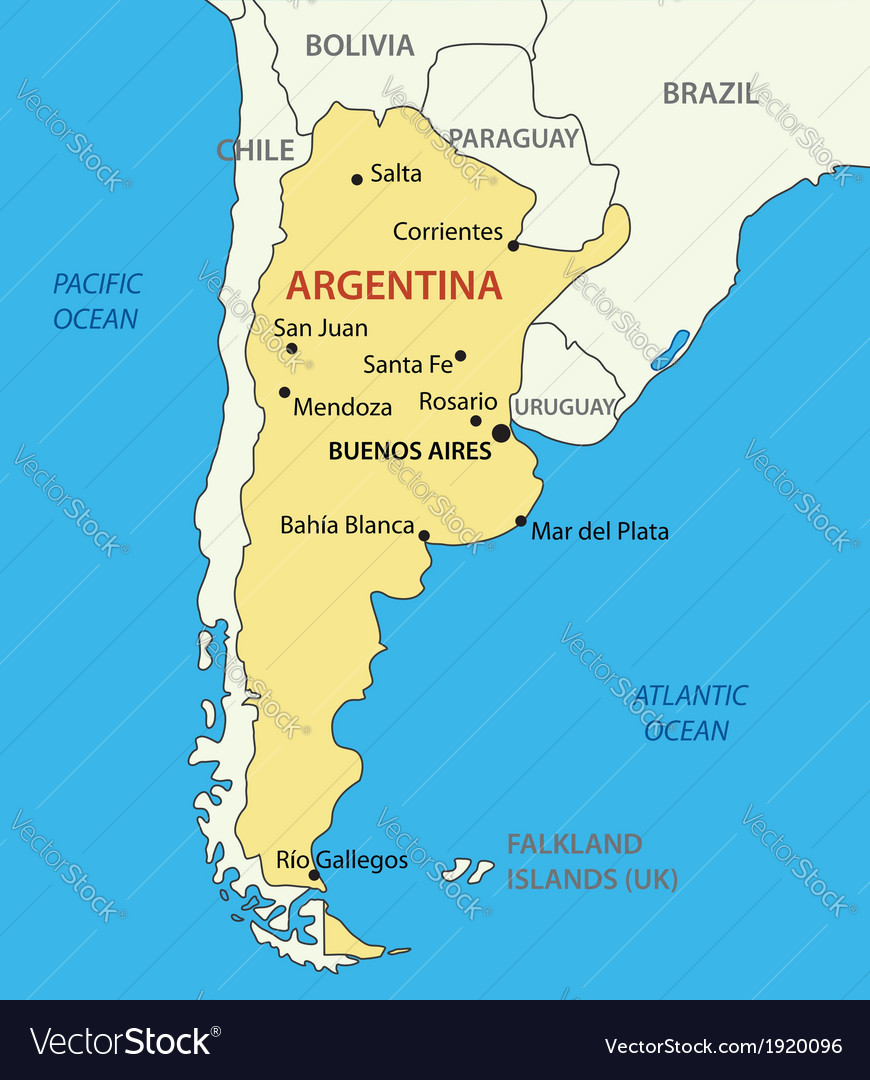 Argentina On The Map Argentine Republic Argentina   map Royalty Free Vector Image