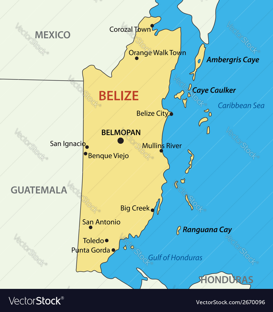 Belize map royalty free vector image vectorstock belize map vector image gumiabroncs Image collections