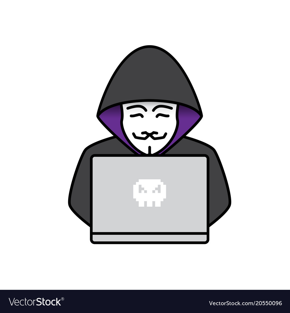 icon of hacker royalty free vector image vectorstock vectorstock