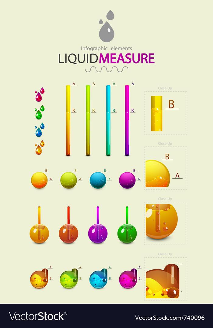 Infographic liquid elements