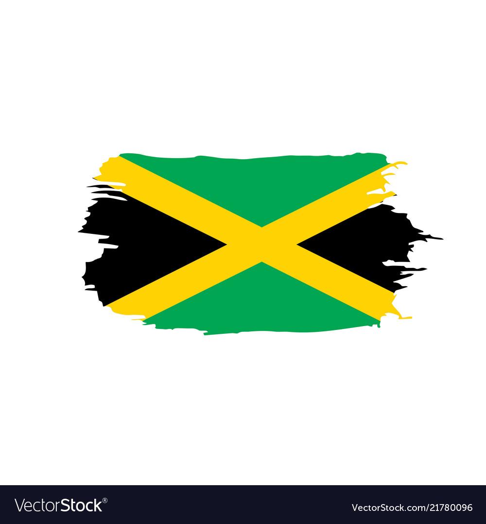 Jamaica Flag Royalty Free Vector Image Vectorstock