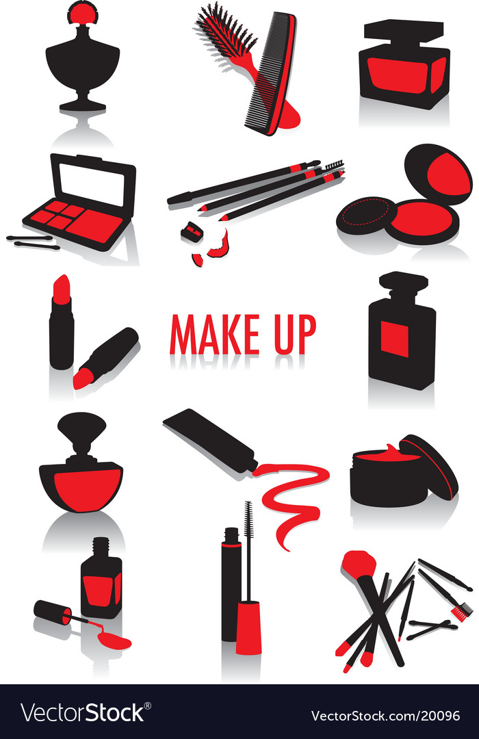 Make-up silhouettes vector image