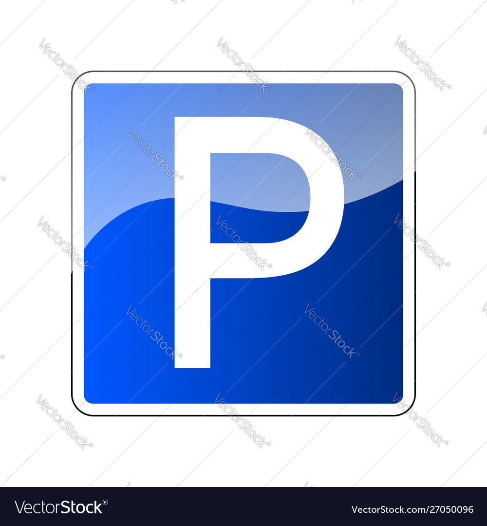 Parking road sign blank place sign