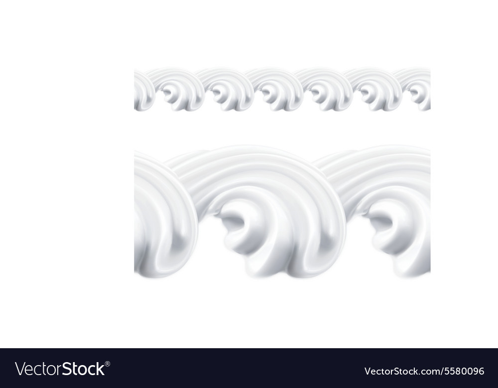 Whipped cream seamless pattern vector image
