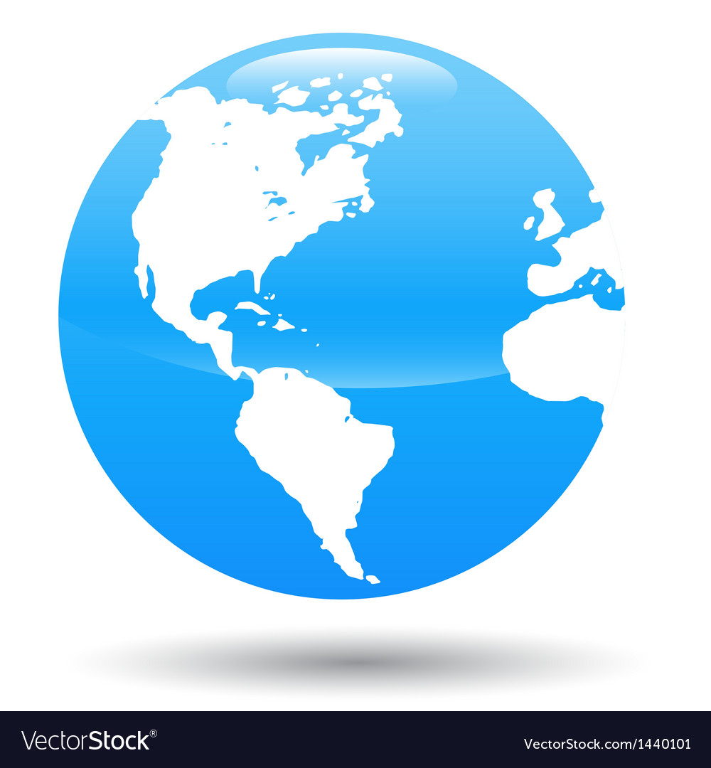 3d Globe vector image