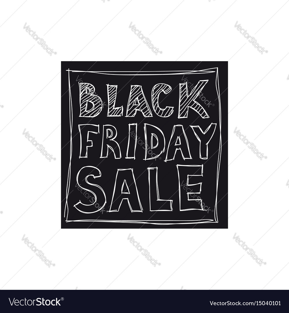 Black friday sale freehand drawing