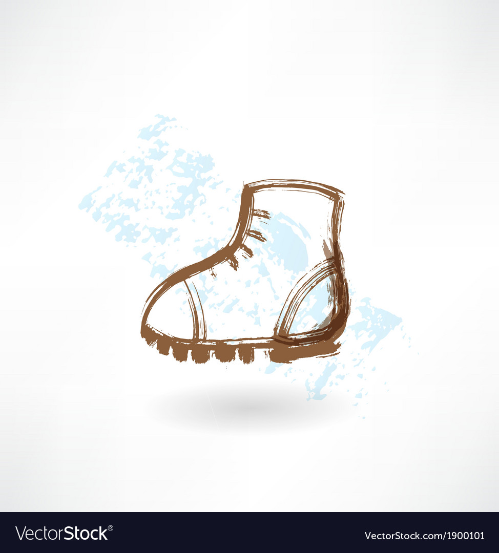 Boot grunge icon