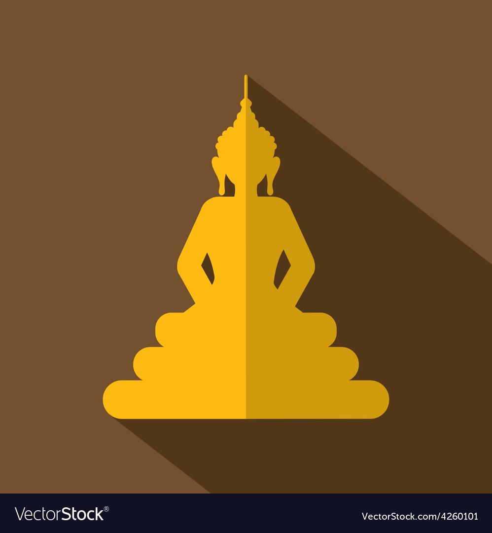 Flat Design Buddha Icon