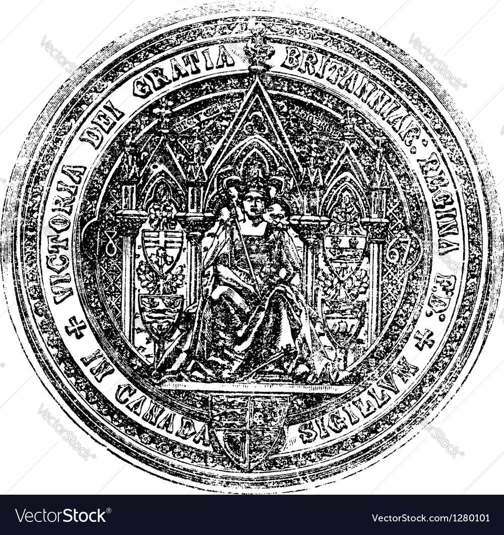 Great Seal Of Canada vintage engraving