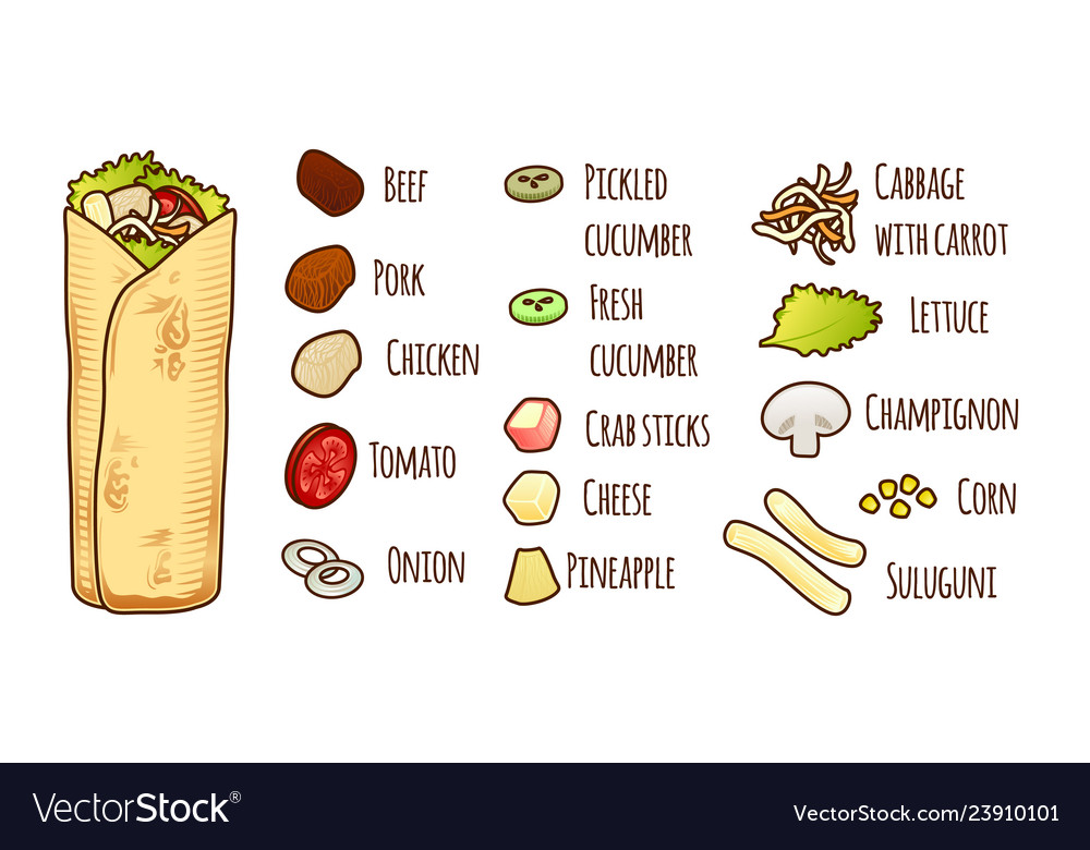 Mexican or arabic fast food for your menu design