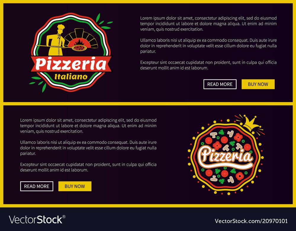 Pizzeria italiano websites set
