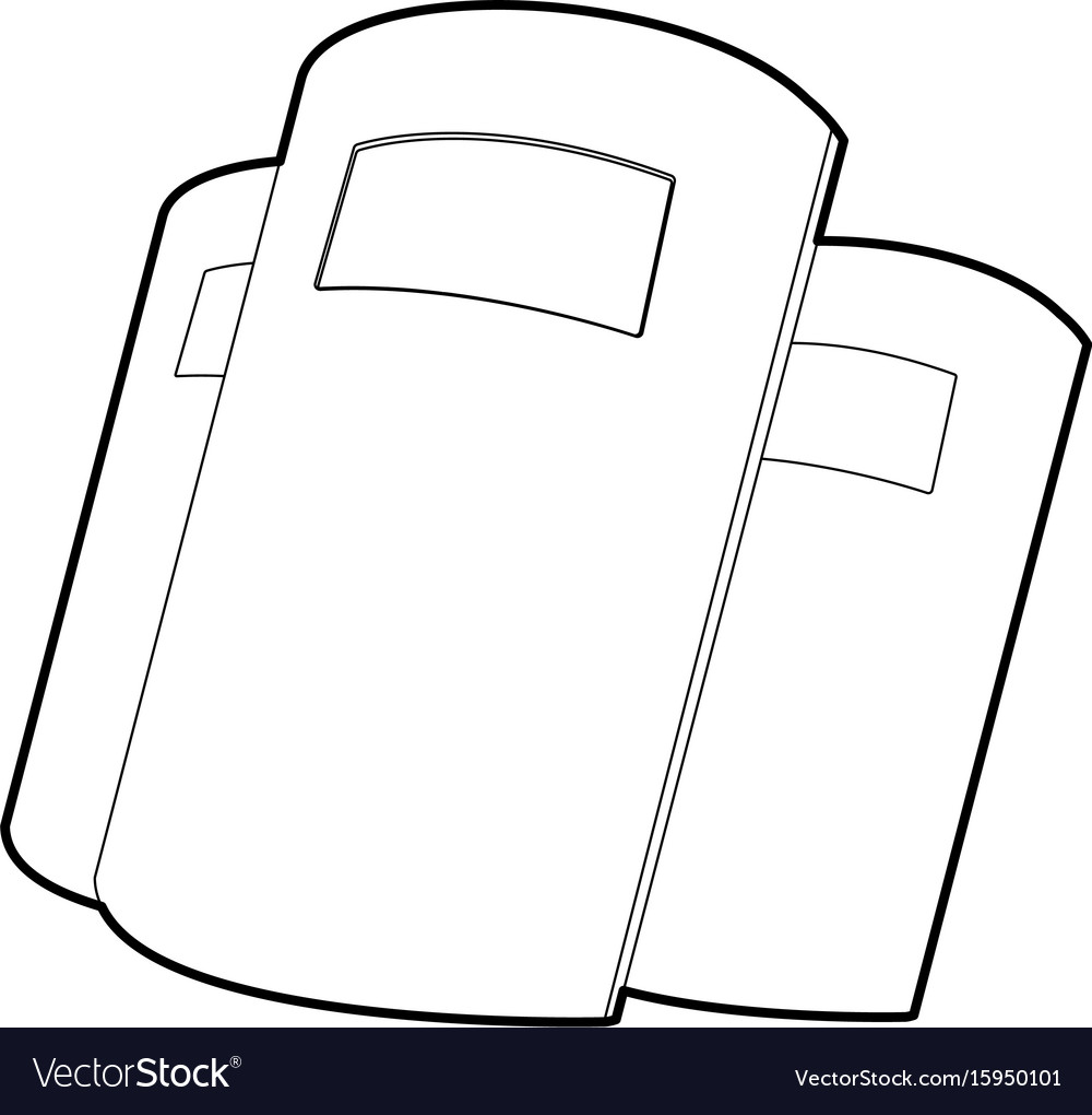 Police shields icon outline vector image