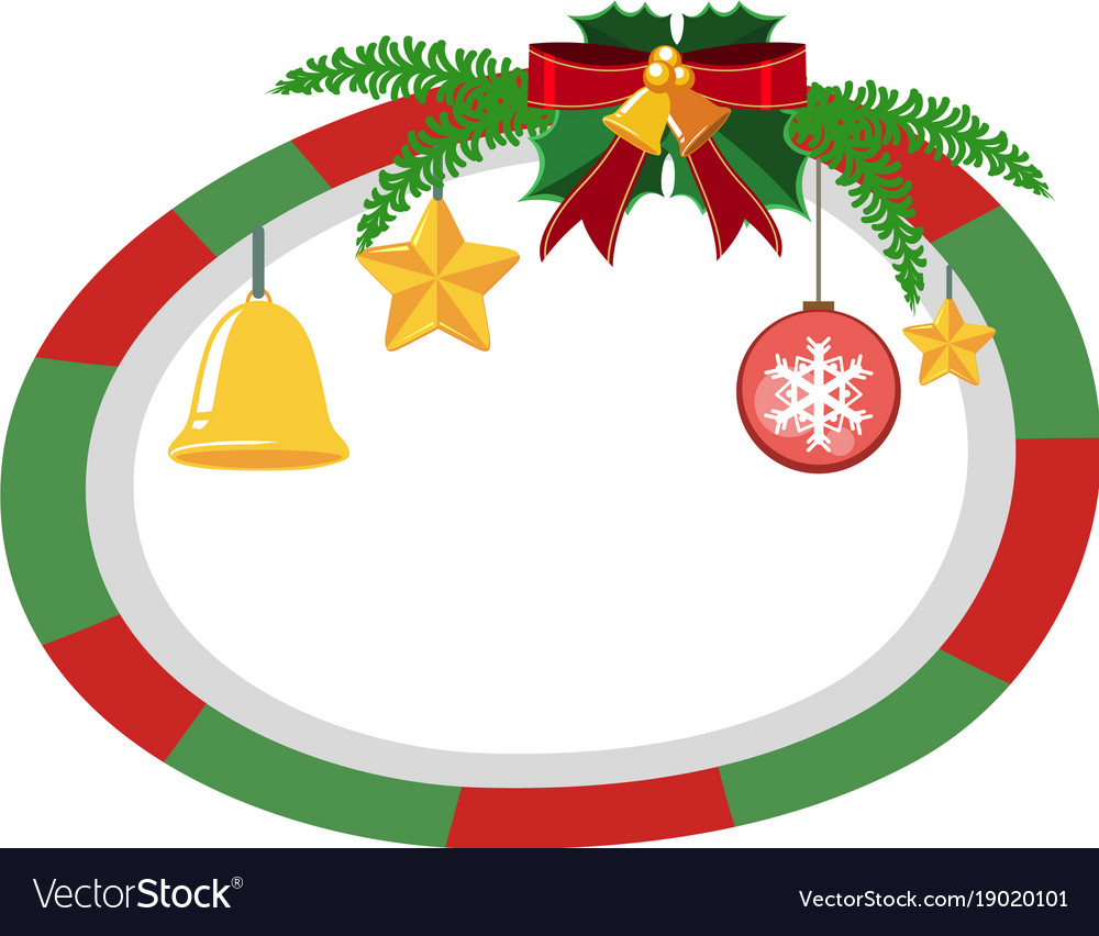 border template with christmas theme vector images 42