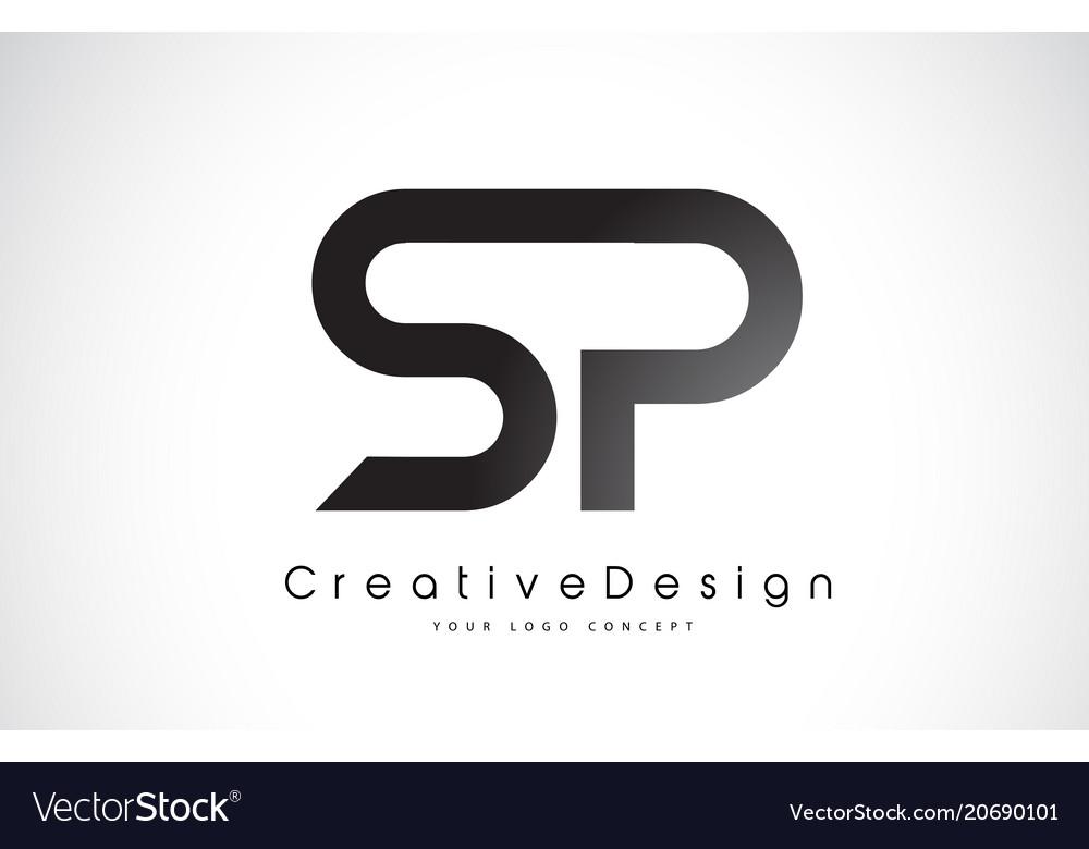 Sp s p letter logo design creative icon modern