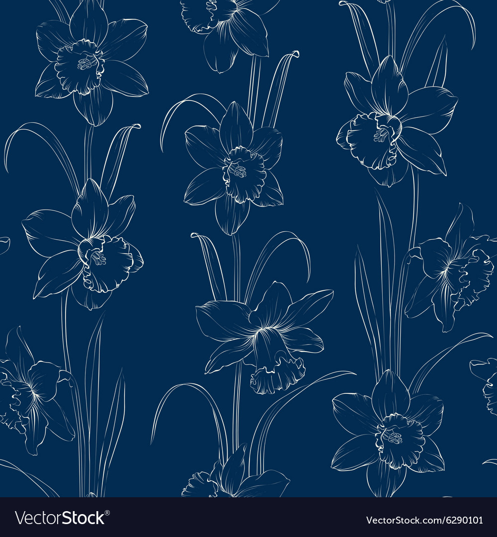 Spring Flowers Fabric Seamless Pattern Royalty Free Vector
