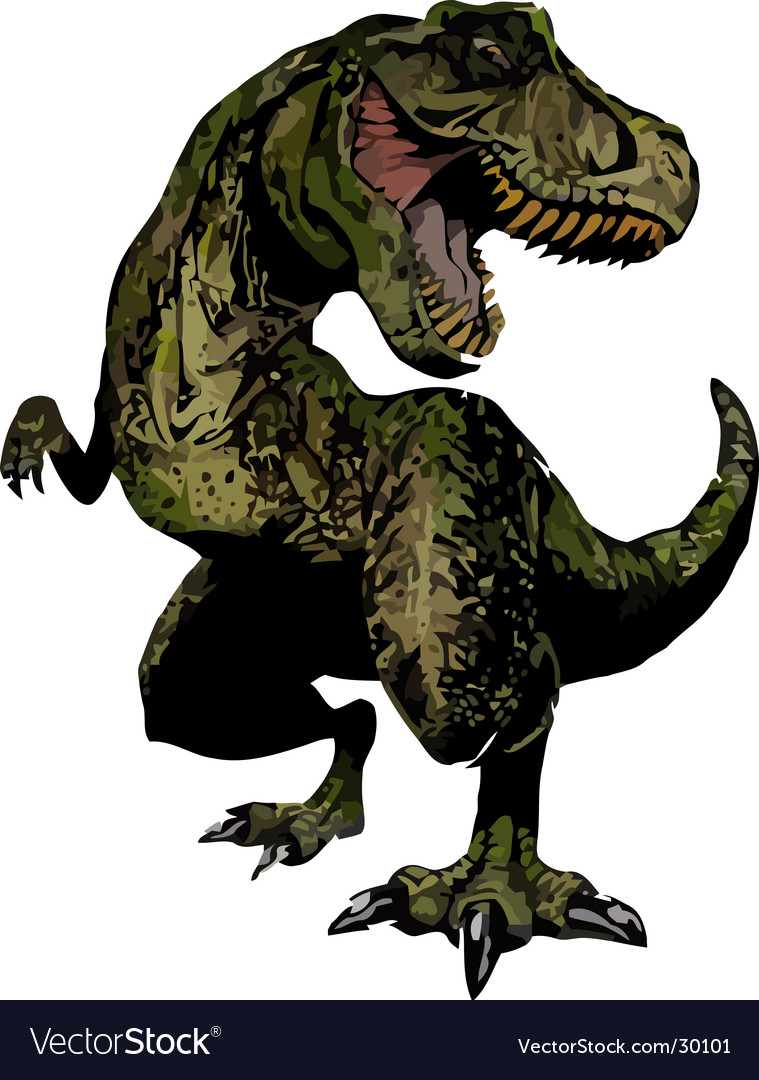 T-red dinosaur reptile vector image