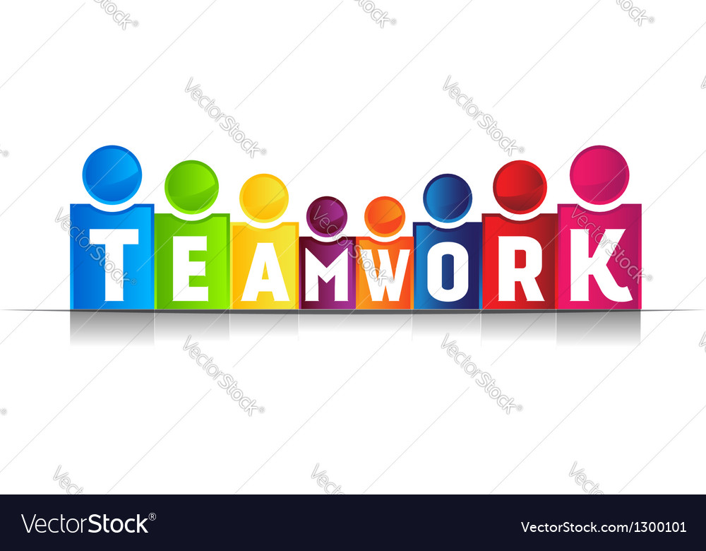 Teamwork concept word logo