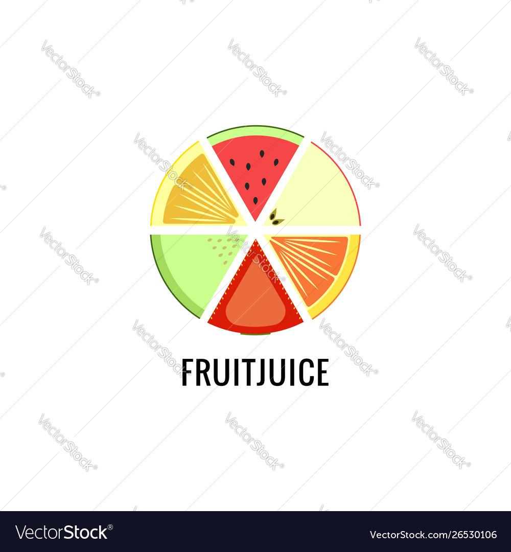 A set different fruits for logo fruit