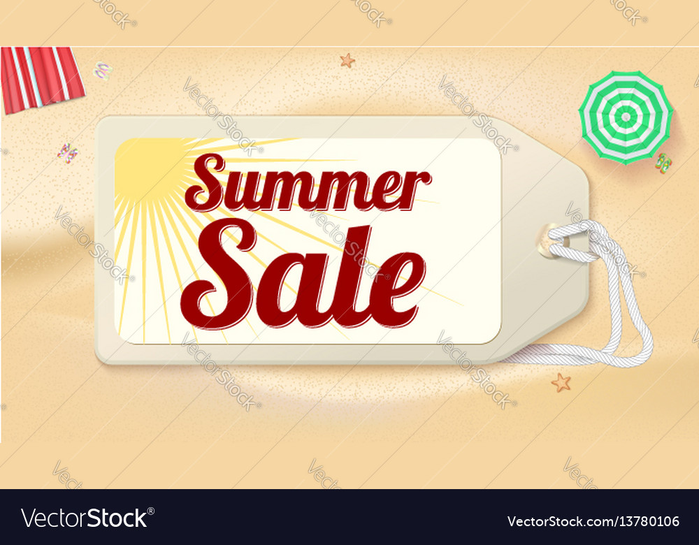 Advertising banner sales with typography summer