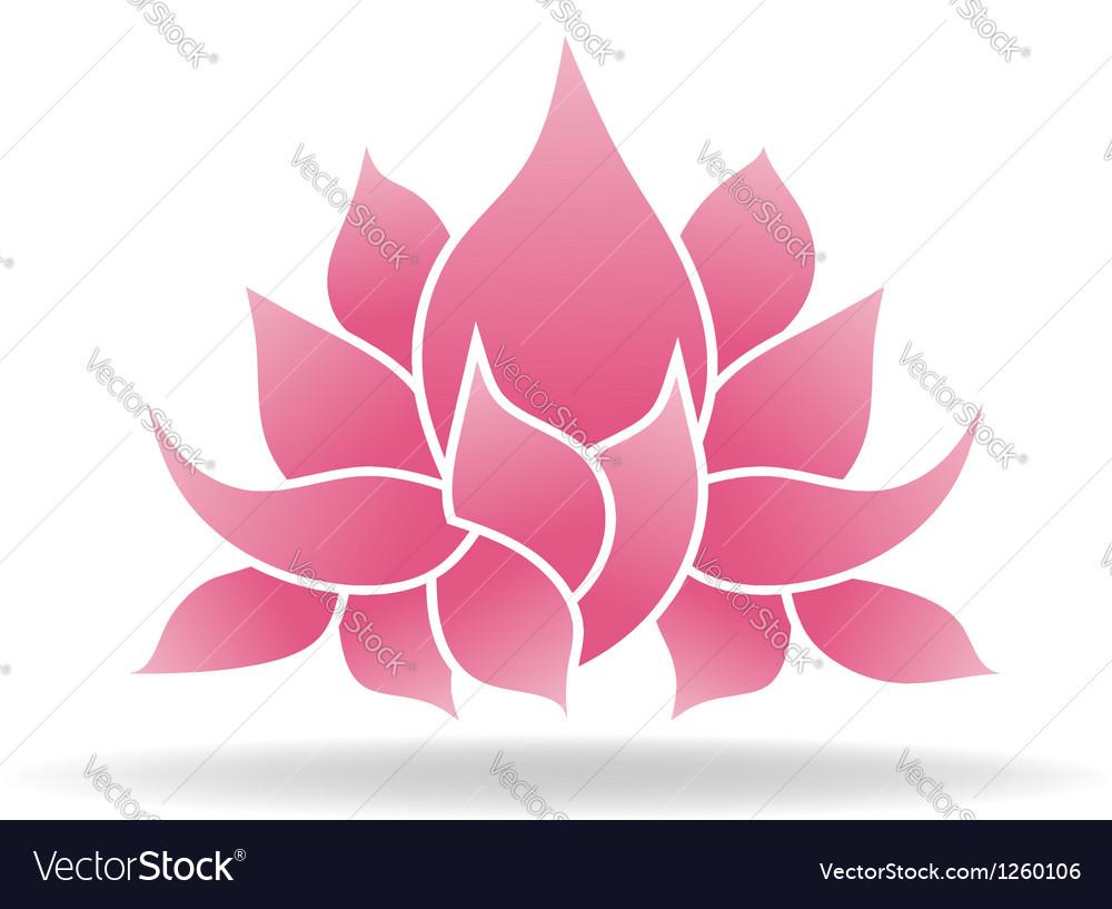Lotus Flower Logo Royalty Free Vector Image Vectorstock