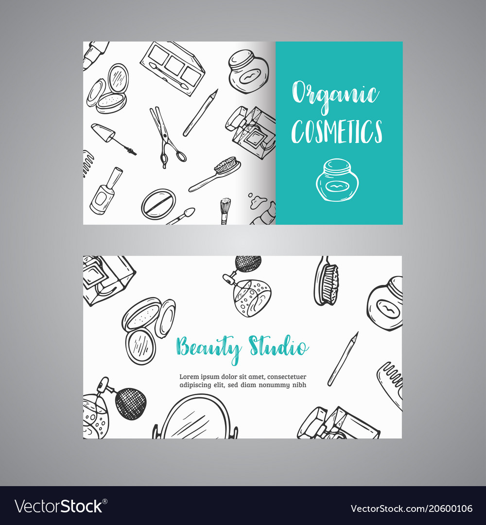 Makeup Artist Business Card Advert For Shop Vector Image