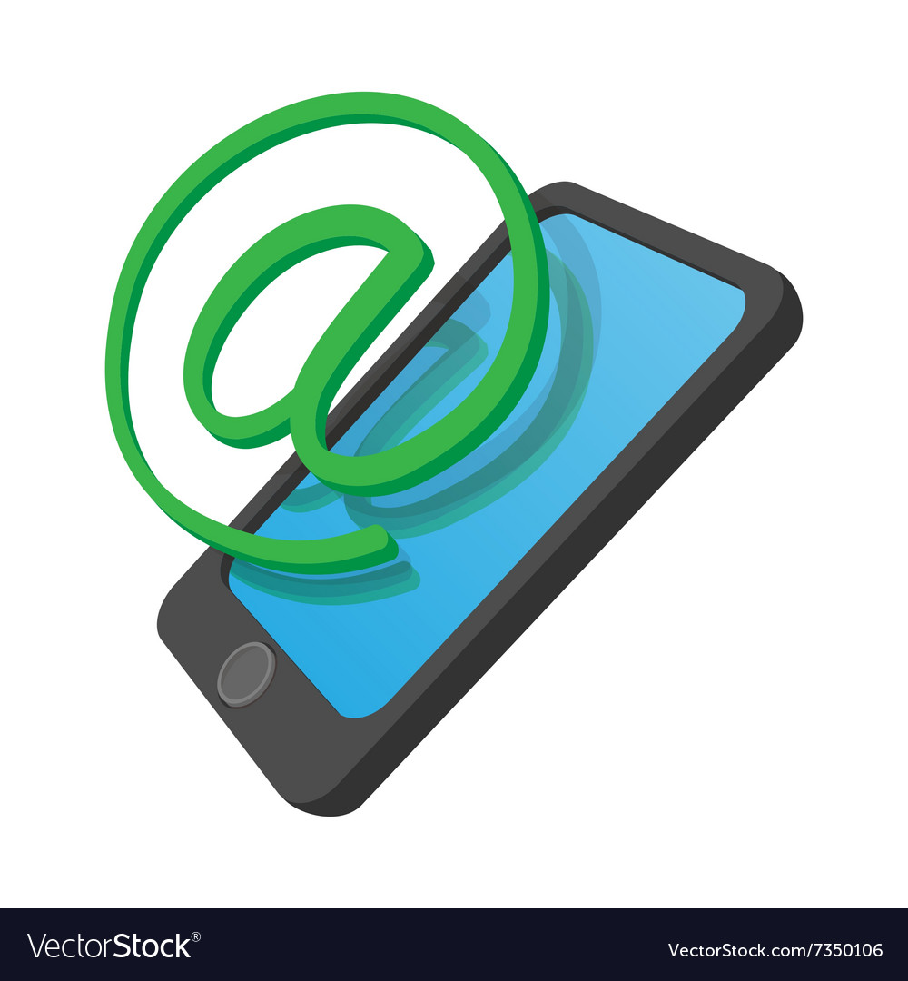 Phone internet connection cartoon icon vector image