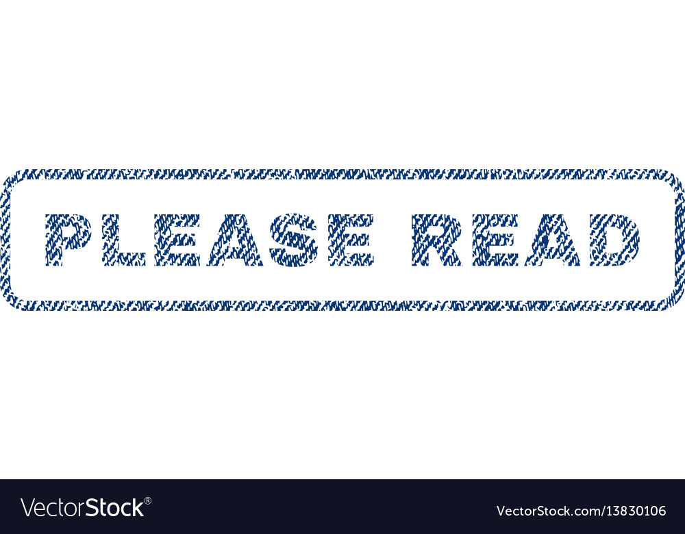 Please read textile stamp vector image
