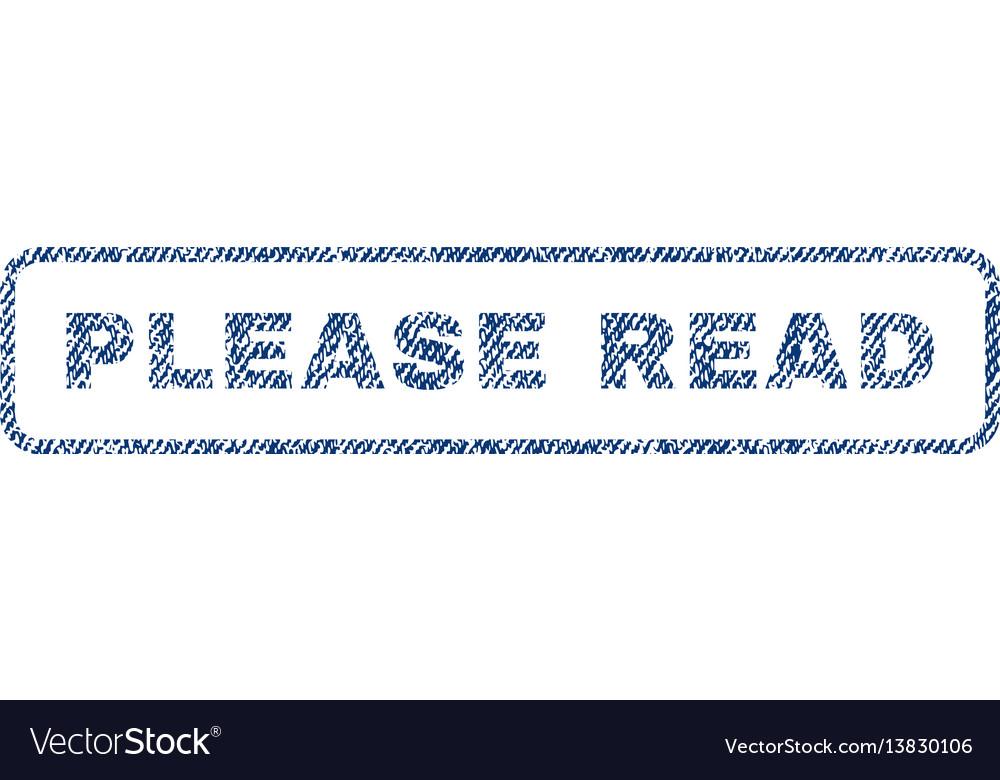 Please read textile stamp