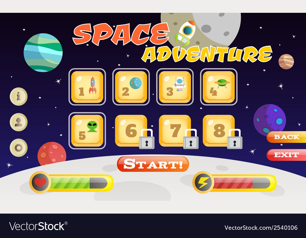 Scifi game interface