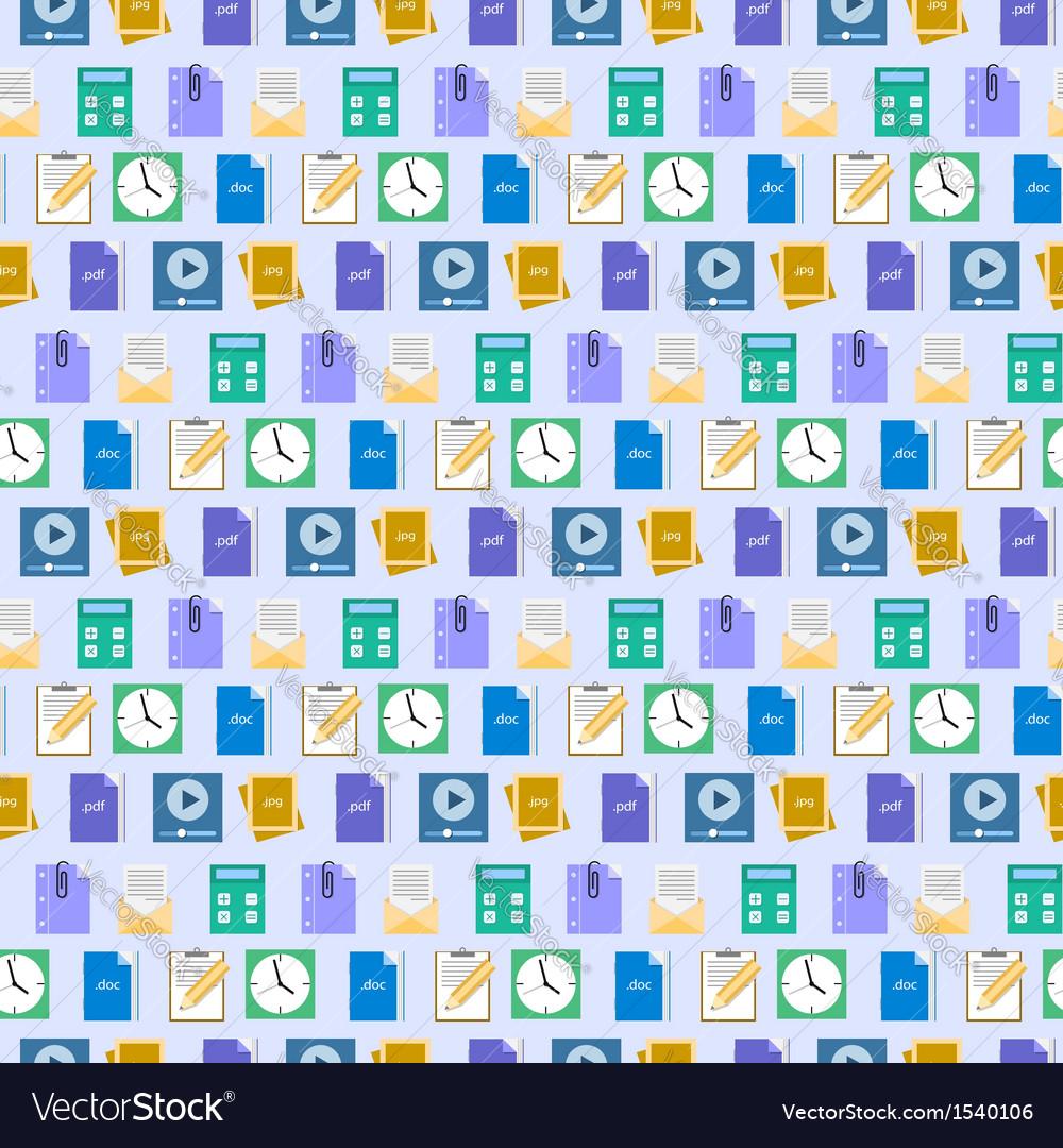 Seamless flat web icons and simbols pattern