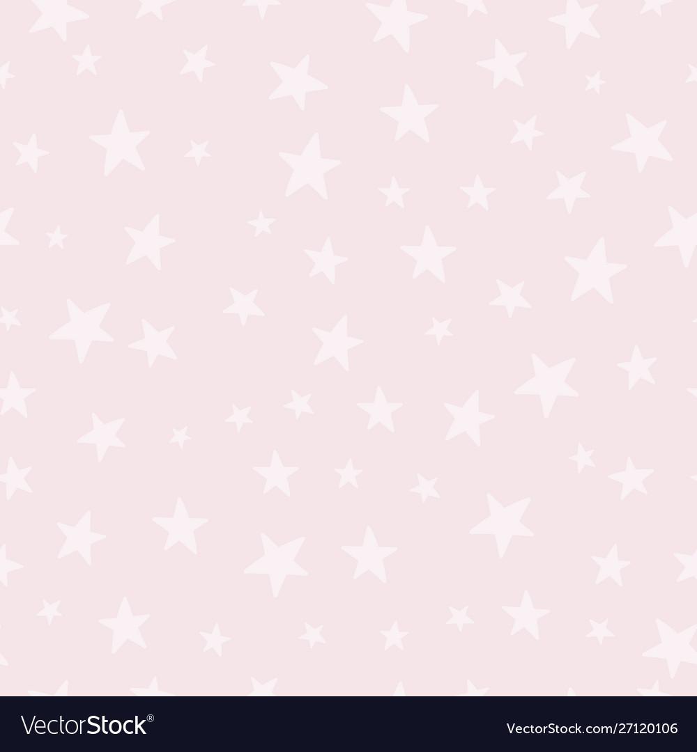 Sky stars cream typography seamless pattern