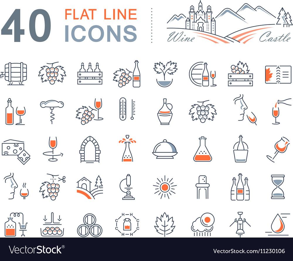 Wine Line Icons 1