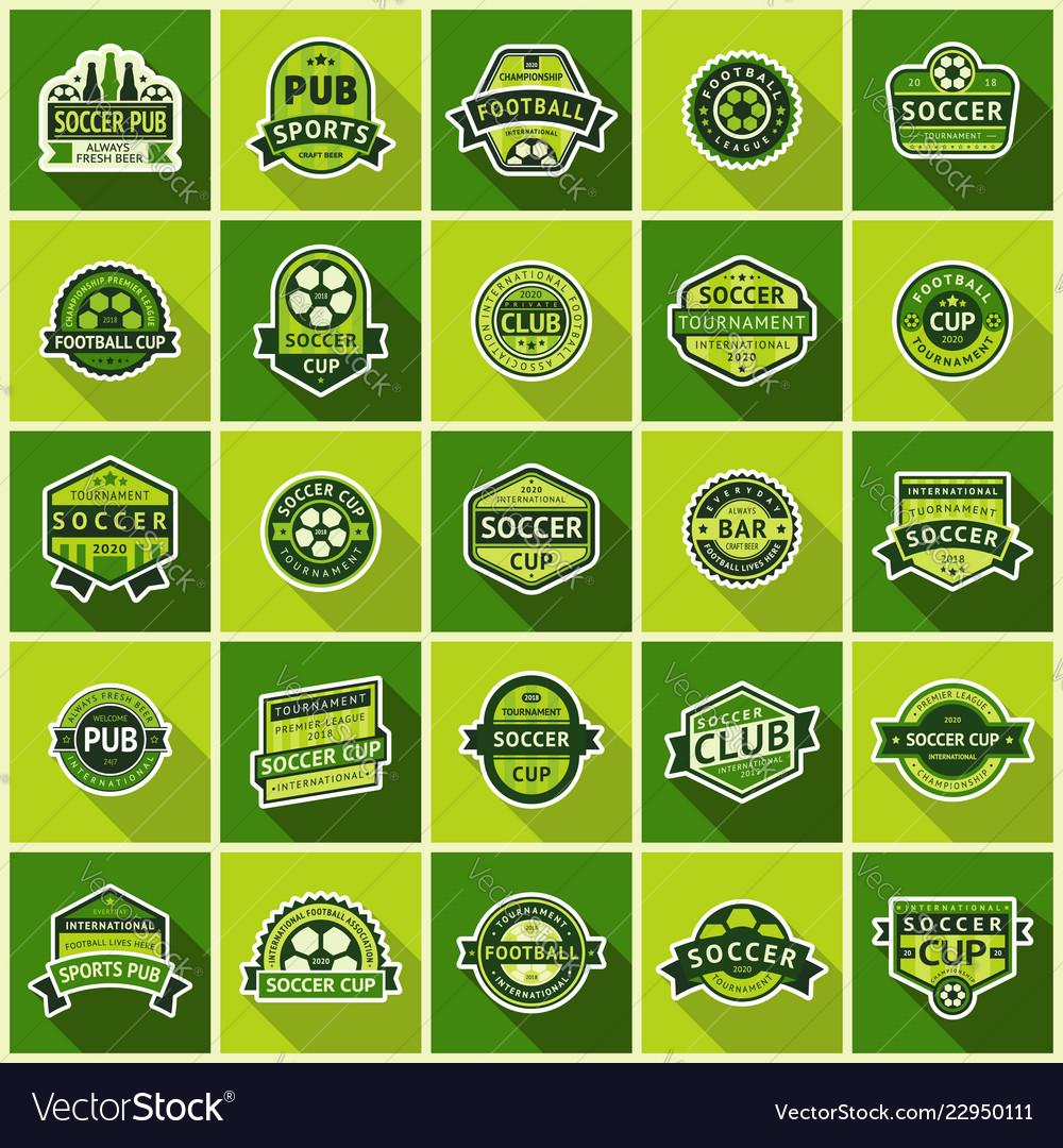 Big football set green badges