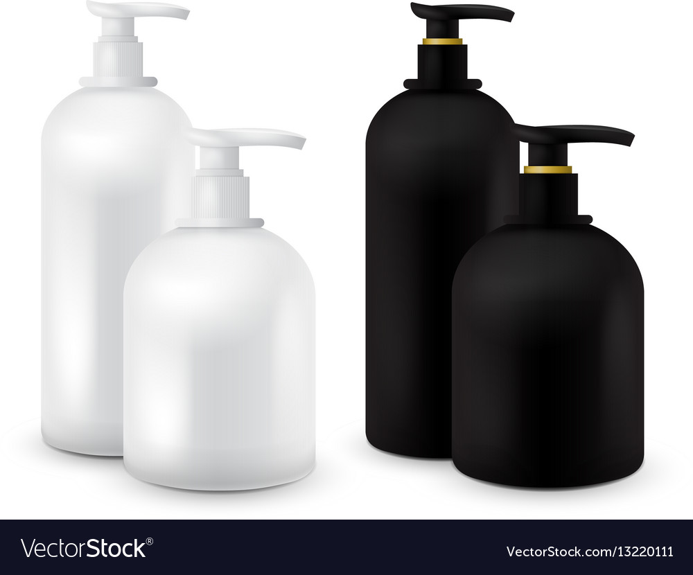 Big set of jar with liquid soap for your logo and
