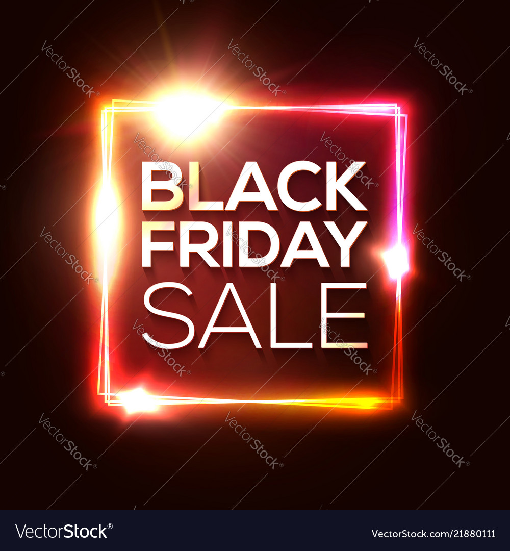 Black friday sale banner advertising red poster