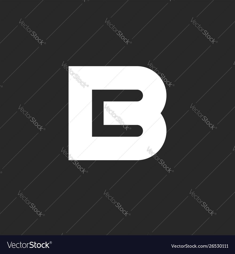 Bold letter b logo design element negative space