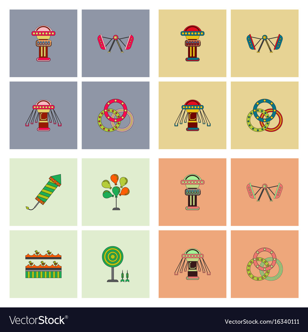 Circus icons collection