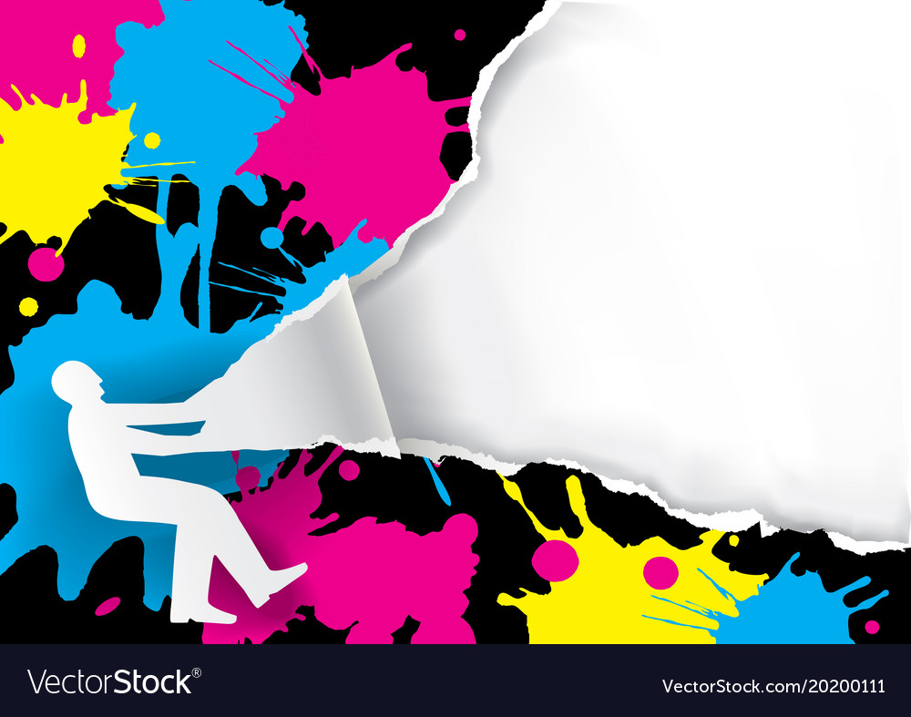 color printing promotion background royalty free vector