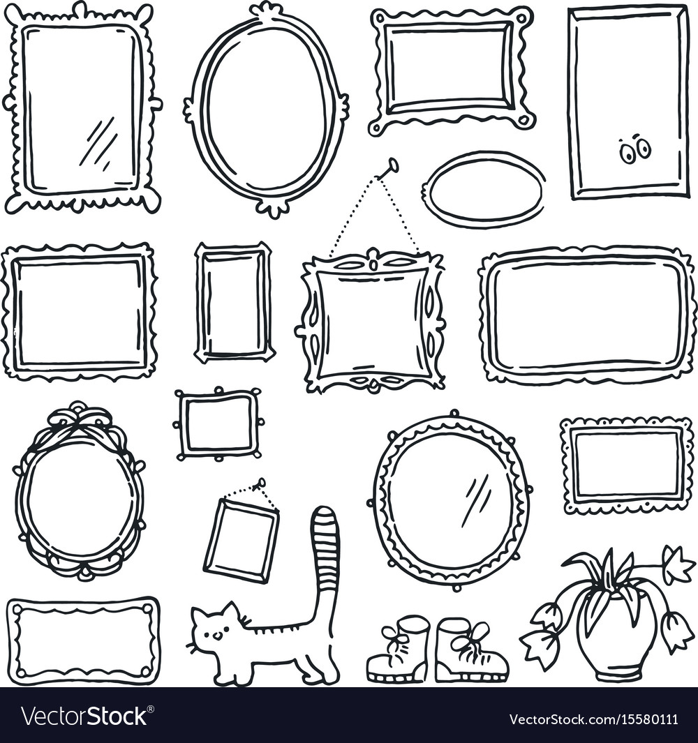 Free hand drawing of picture frames